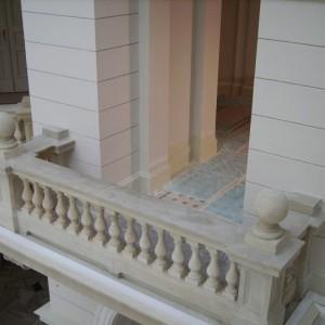 Balkon wewnątrz budynku