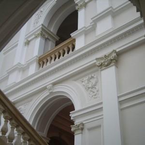 Elewacja wewnątrz budynku